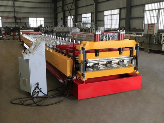 Floor Decking Roll Forming Machine for YX76-320-960 Profile