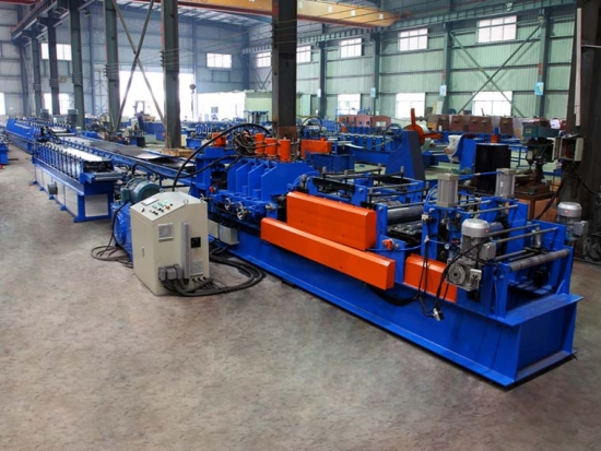 High Efficiency 5mm Thickness Automatic C Purlin Roll Forming Machine