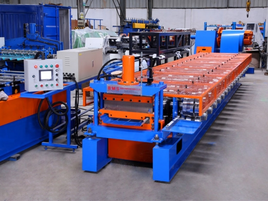 Standing Seaming Roof Panel Roll Forming Machine for YX65-499