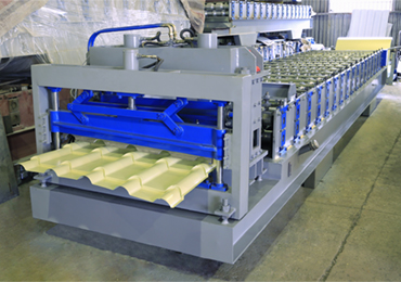 Bamboo Style Glazed Tile Roll Forming Machine